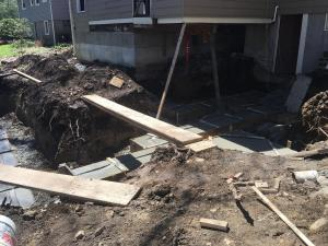 2 footing poured